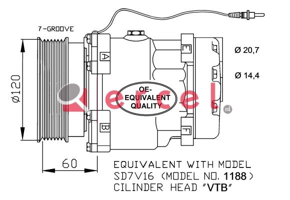 Airco compressor REK 075