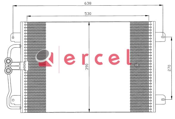 Airco condensor REC 580