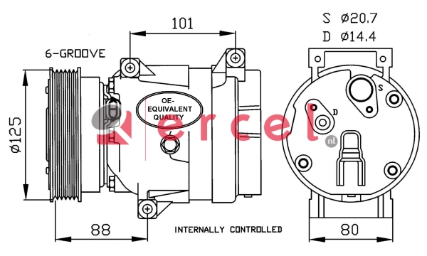 Airco compressor REK 051