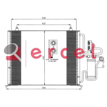 Airco condensor REC 524