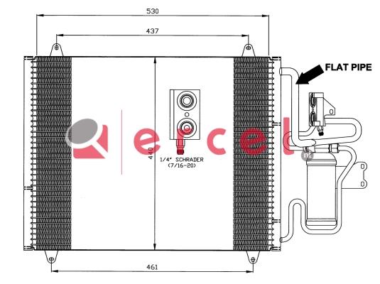Airco condensor REC 540