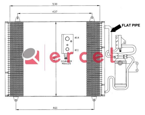 Airco condensor REC 592