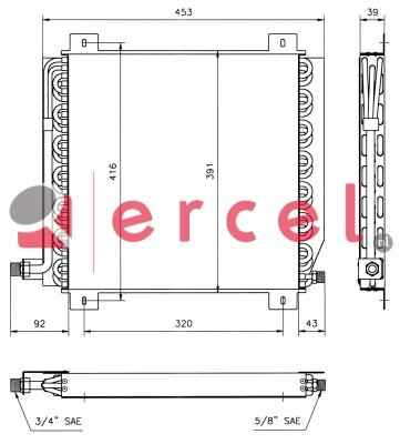 Airco condensor REC 568
