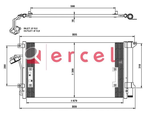 Airco condensor VWC 556