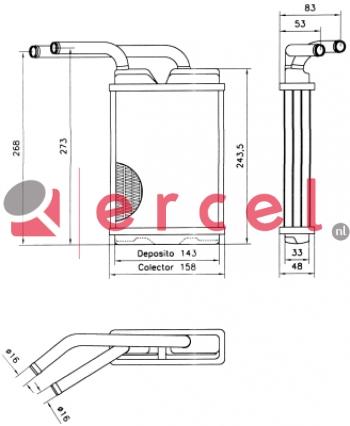 Kachelradiateur REH 246