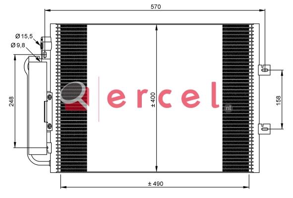 Airco condensor REC 553