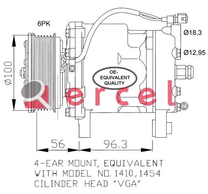 Airco compressor VWK 002
