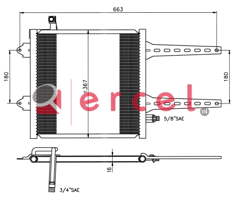 Airco condensor VWC 534