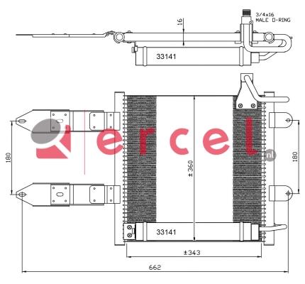 Airco condensor VWC 504