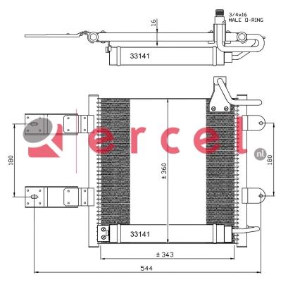 Airco condensor VWC 536
