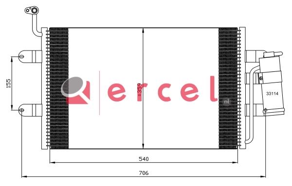 Airco condensor SEC 512