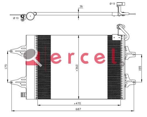 Airco condensor SKC 501