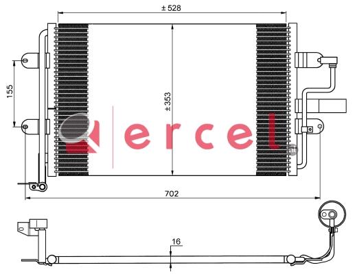 Airco condensor VWC 558
