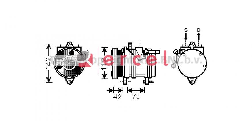 Airco compressor KAK 048 OEM