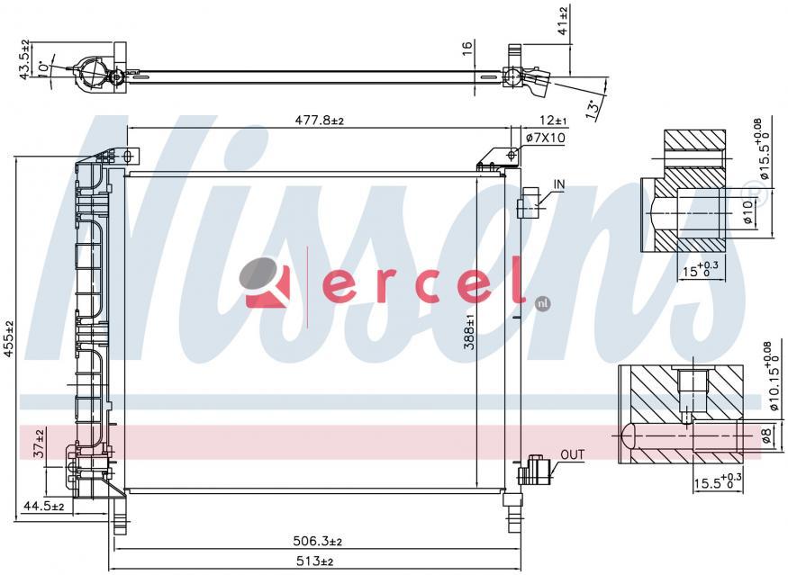 Airco condensor NIC 573