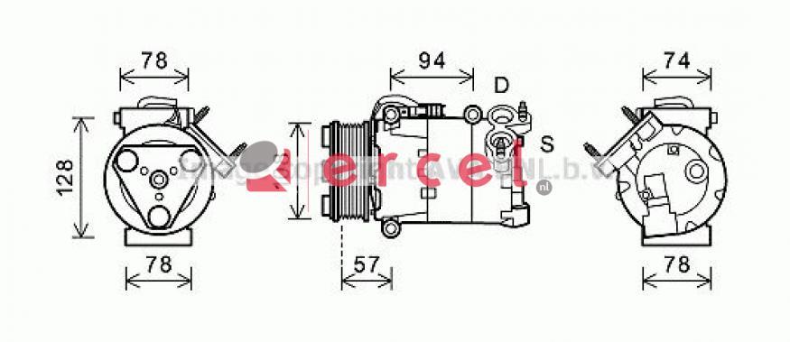 Airco compressor FOK 082 OEM