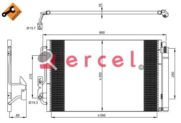 Airco condensor BMC 518