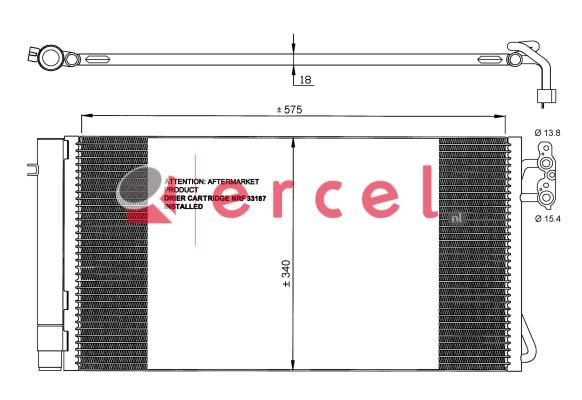 Airco condensor BMC 505
