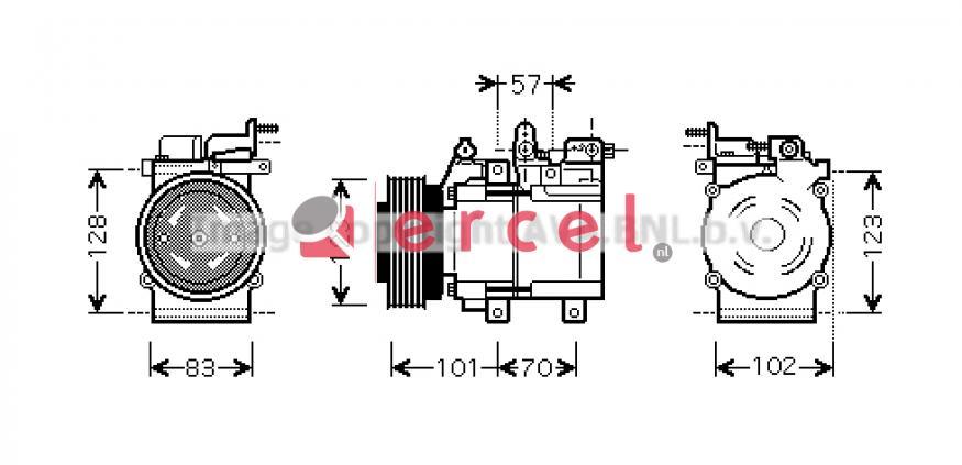 Airco compressor HYK 128 OEM