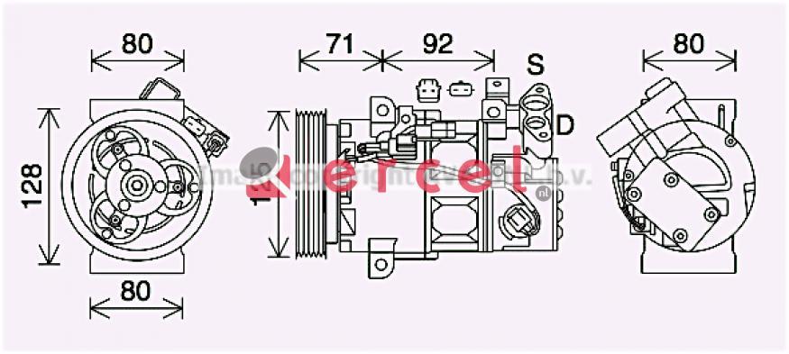 Airco compressor REK 116 OEM