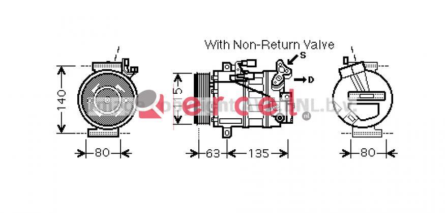 Airco compressor REK 108 OEM