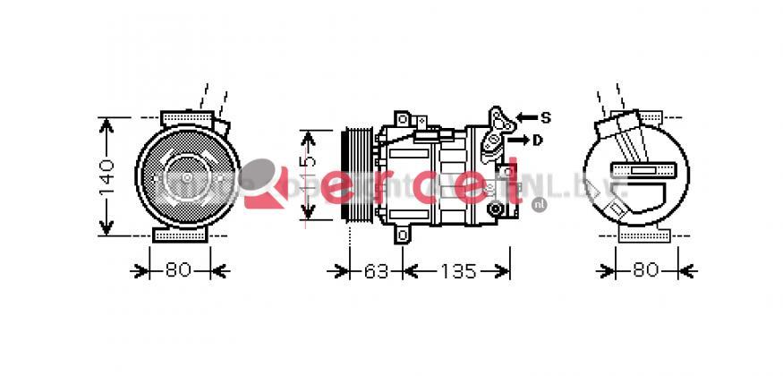 Airco compressor REK 107 OEM