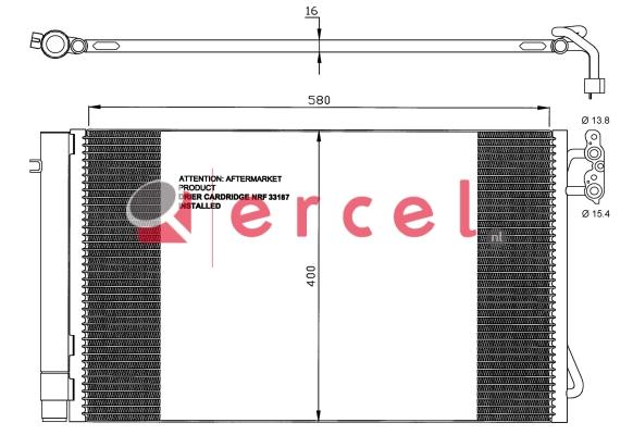 Airco condensor BMC 503
