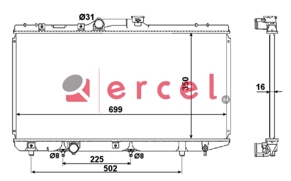 Radiateur TOR 149