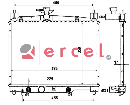 Radiateur TOR 787