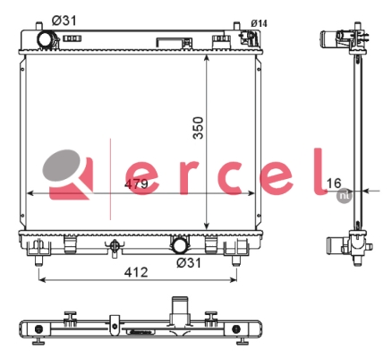 Radiateur TOR 951