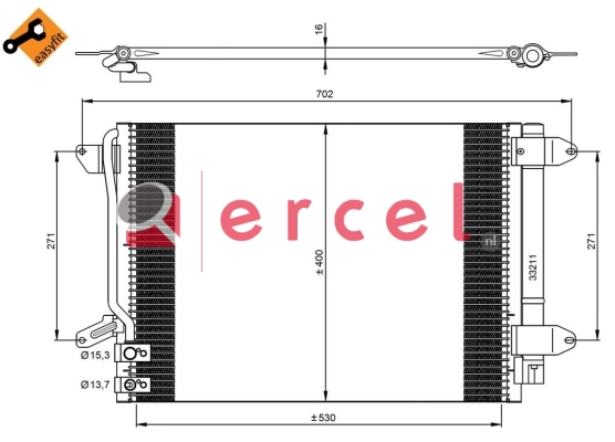 Airco condensor VWC 560