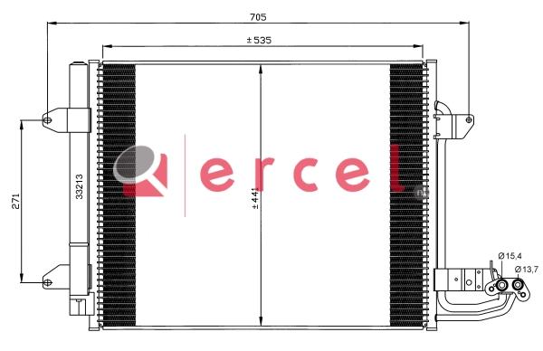 Airco condensor VWC 552