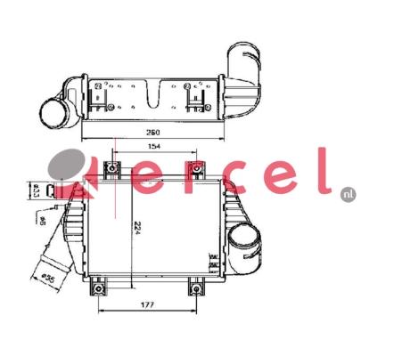 Interkoeler VWI 424