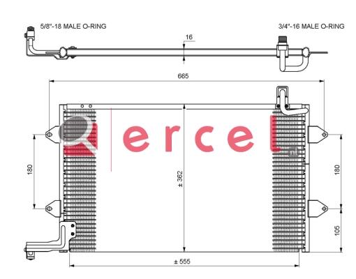 Airco condensor VWC 510