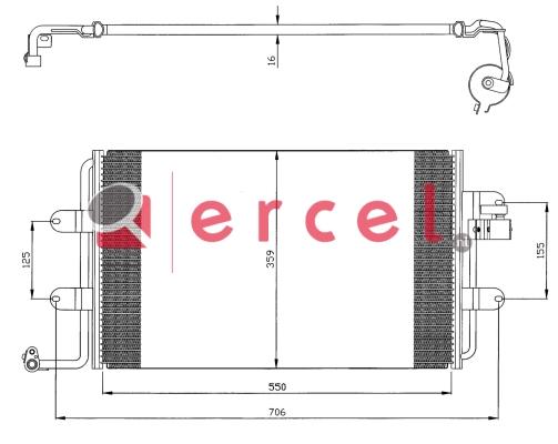 Airco condensor VWC 544