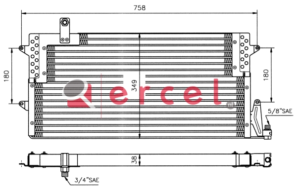 Airco condensor VWC 514