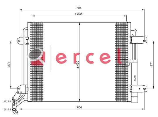 Airco condensor VWC 521