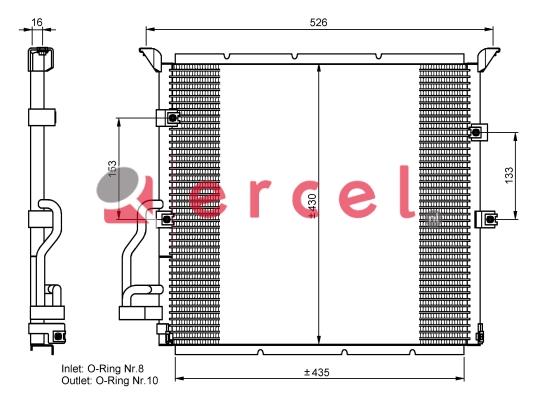 Airco condensor BMC 508