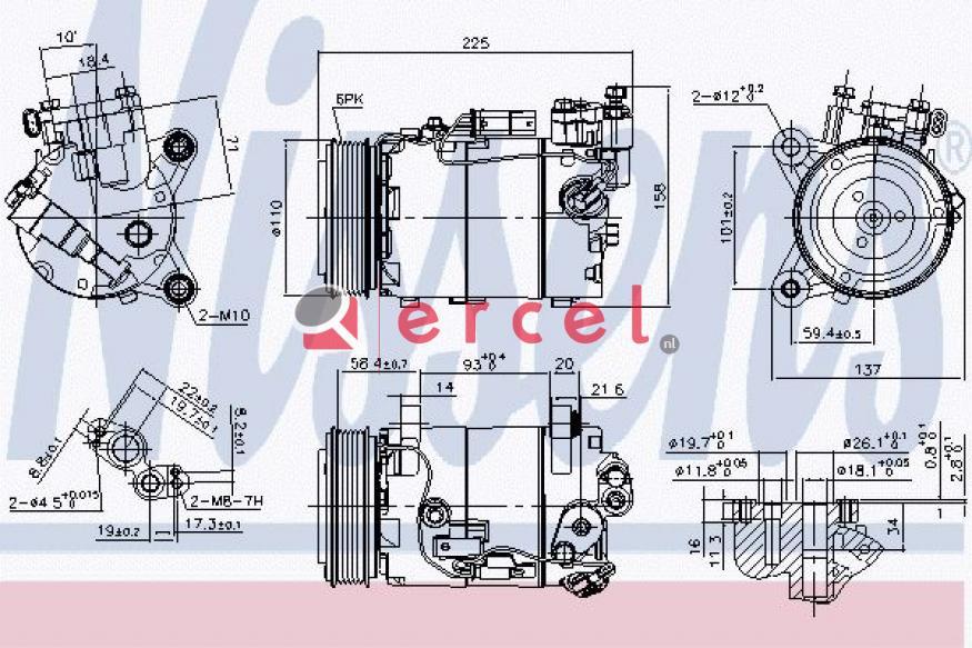 Airco compressor BMK 108