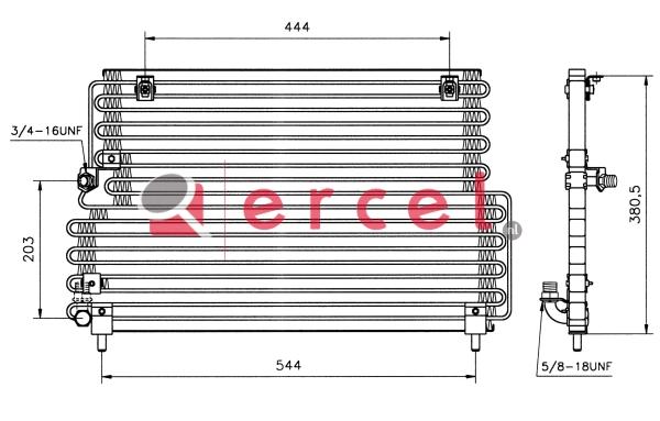 Airco condensor VOC 524