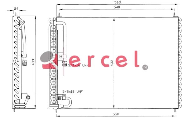 Airco condensor VOC 522