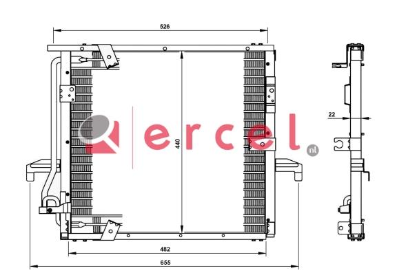 Airco condensor BMC 514