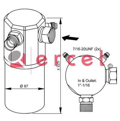 Airco droger/filter VOD 008