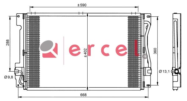 Airco condensor VOC 526
