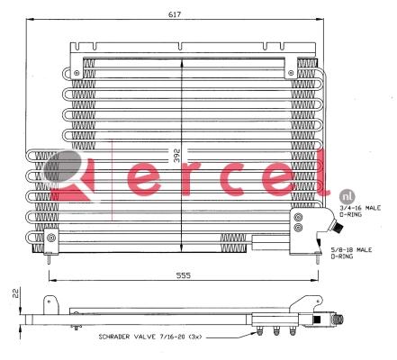Airco condensor VOC 548