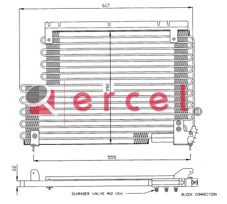 Airco condensor VOC 528