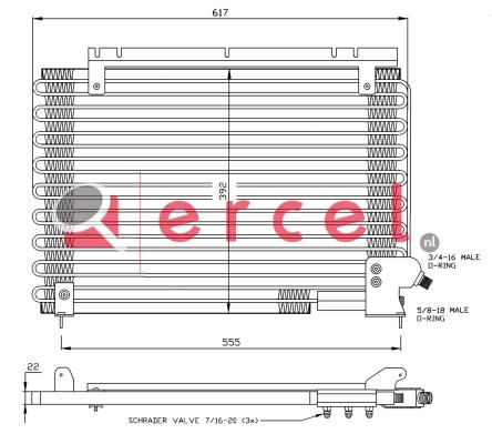 Airco condensor VOC 546