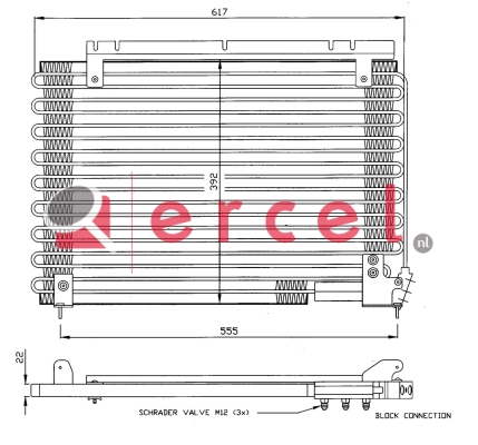 Airco condensor VOC 556