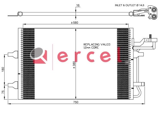Airco condensor VOC 574
