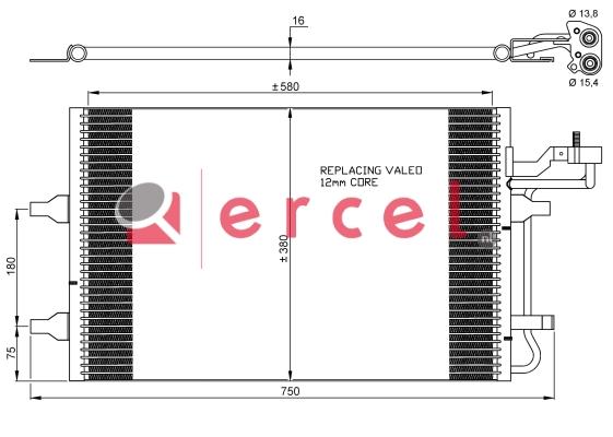 Airco condensor VOC 580